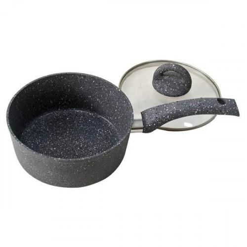 Wonderchef Granite Sauce Pan With Lid - 16CM @badhigestore