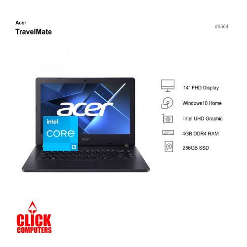"Acer TravelMate TMP214-53-39E3 ( I3-11154G 4GB RAM 256GB SSD WIN10H, 14"")"