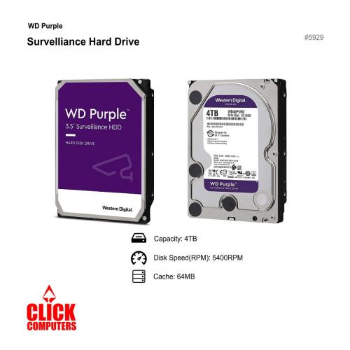 WD PURPLE  INTERNAL HARD DISK  WD40EJRX (4TB/5400RPM/64MB)