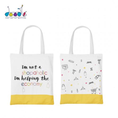 Shopper Hopper Canvas Tote Bag
