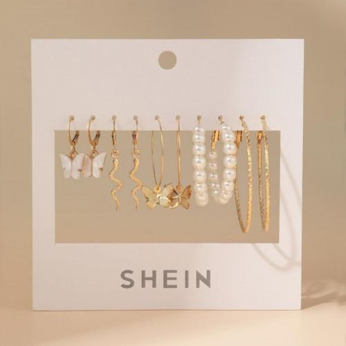 5pairs Faux Pearl Detail Earrings