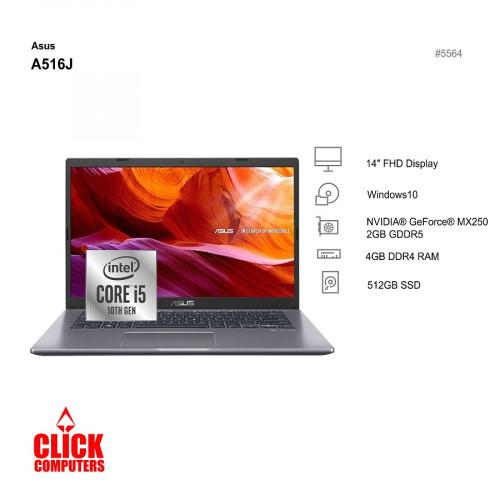 Asus A516J-PEK008TS  (4 GB ,512GB SSD ,14″)