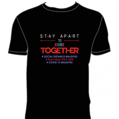 Covid T. Shirt  # 121 Black 100% Cotton T Shirt