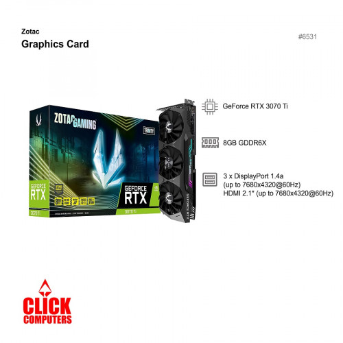Zotac RTX 3070 Ti (8GB GDDR6X  NVIDIA) Graphic Card