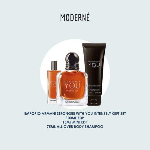EMPORIO ARMANI STRONGER WITH YOU INTENSELY GIFT SET
