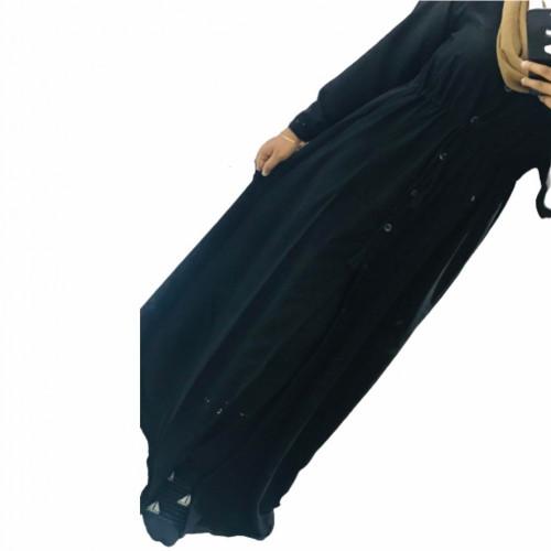 Super Comfortable Mid Button , Adjustable waist Belt Dress