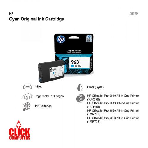 HP 963 Ink Cartridge Cyan
