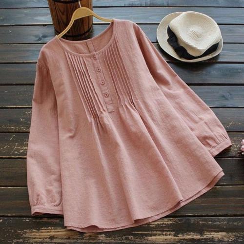 Vintage Chic Summer Blouse
