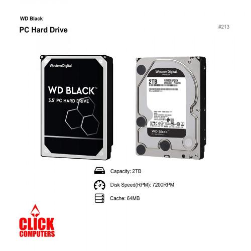 "WD Black 3.5"" Performance Hard  Disk  (2TB /7200 RPM SATA 6Gb/s 64MB Cache)"