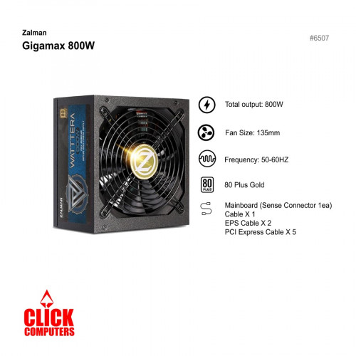Zalman Wattera  ZM800-EBTII(800W Gold  Power Supply)