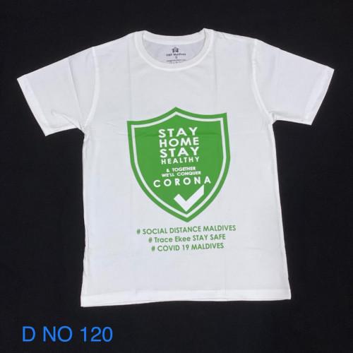Covid T. Shirt # 120 White 100% Cotton T Shirt