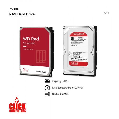 "WD Red NAS Internal Hard Drive  (2TB/5400 RPM Class, SATA 6Gb/s, SMR,/256MB Cache, 3.5"")"