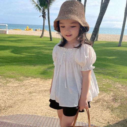 Korean Fashion, baby girl's dress, puffy short sleeve
