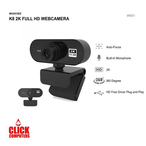 MAGICSEE K8 2K FULL HD WEBCAMERA