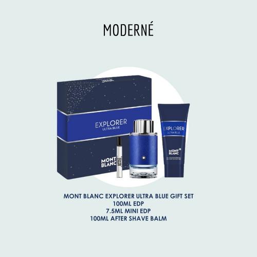MONT BLANC EXPLORER ULTRA BLUE GIFT SET