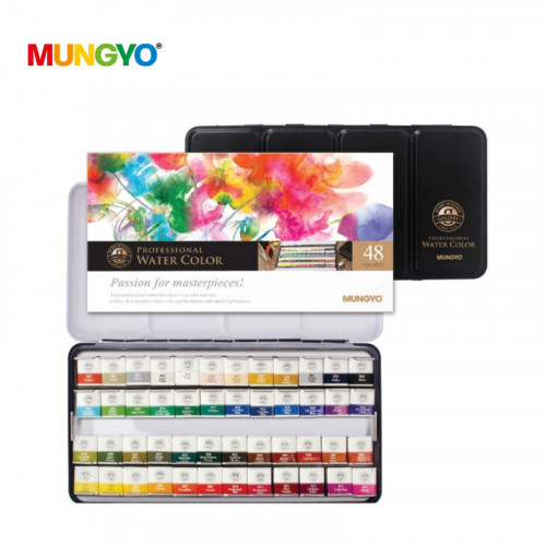 Mungyo Water Color metal case of 48 assorted colors