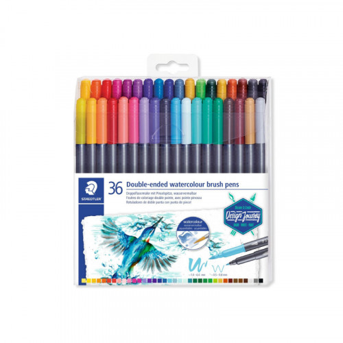 Staedtler Double Ended Watercolor 36 Brush Pens