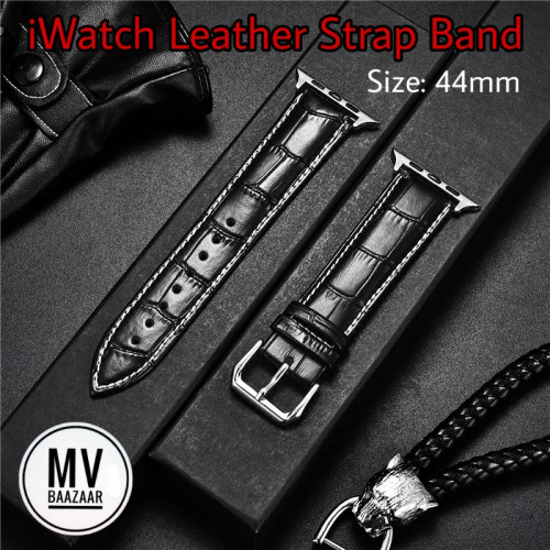 Leather Strap Band for Apple iWatch Smart Watch 44mm WatchBand