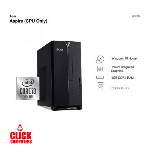 Acer ATC895-10100F i3 Desktop CPU ONLY ( i3-10100,4GB Ram,512GB SSD,DOS)