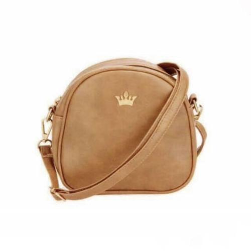 Shoulder & Crossbody Leather Brown Bag