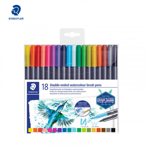 Staedtler 18 Double-ended water color brush pens