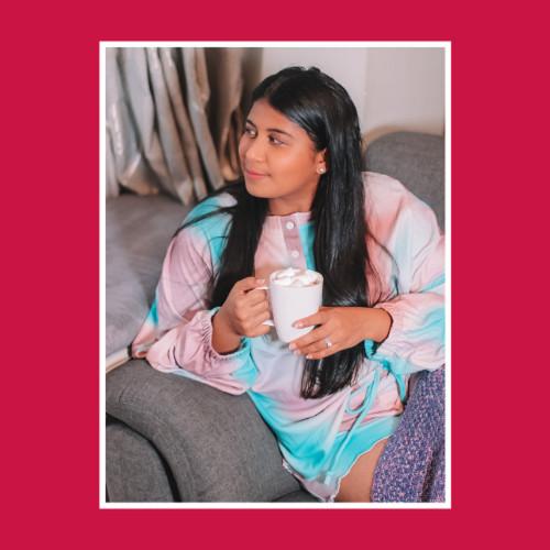 Multicolor Tie Dye Knit Pajamas Set