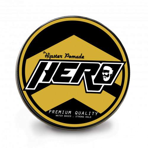 Hipster Pomade Hero Yellow