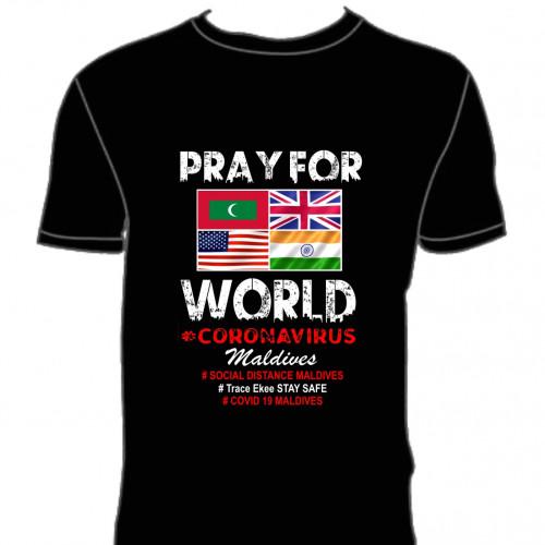 Covid T. Shirt # 111 Black 100% Cotton T Shirt