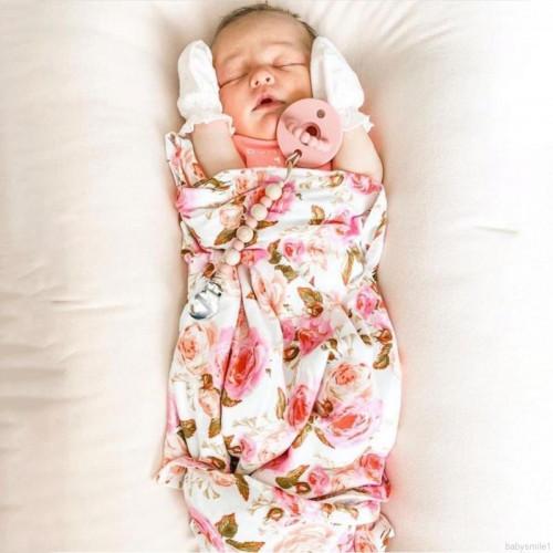 Infant Swaddle Wrap And Headband Set