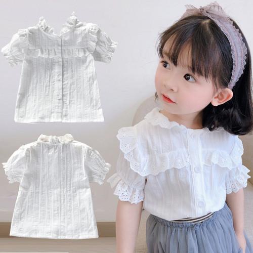 Korean Fashion Girls White Lace Blouse