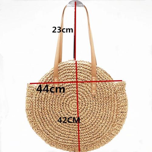 summer bohemain Round straw bag. Holiday Beach shoulder Bag