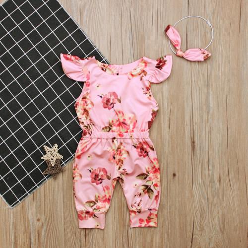Baby Girls Flower Romper Jumpsuit
