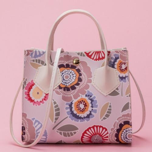 Floral Graphic Satchel Bag