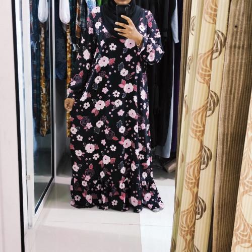 Maxi abaya with belt