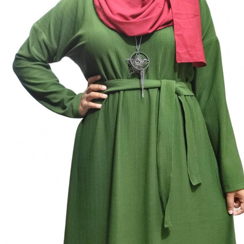 Modest Abaya Pleated Stretch
