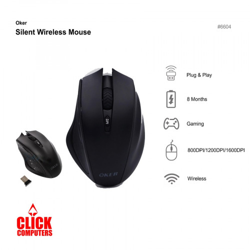 Oker Silent Wireless Mouse G830
