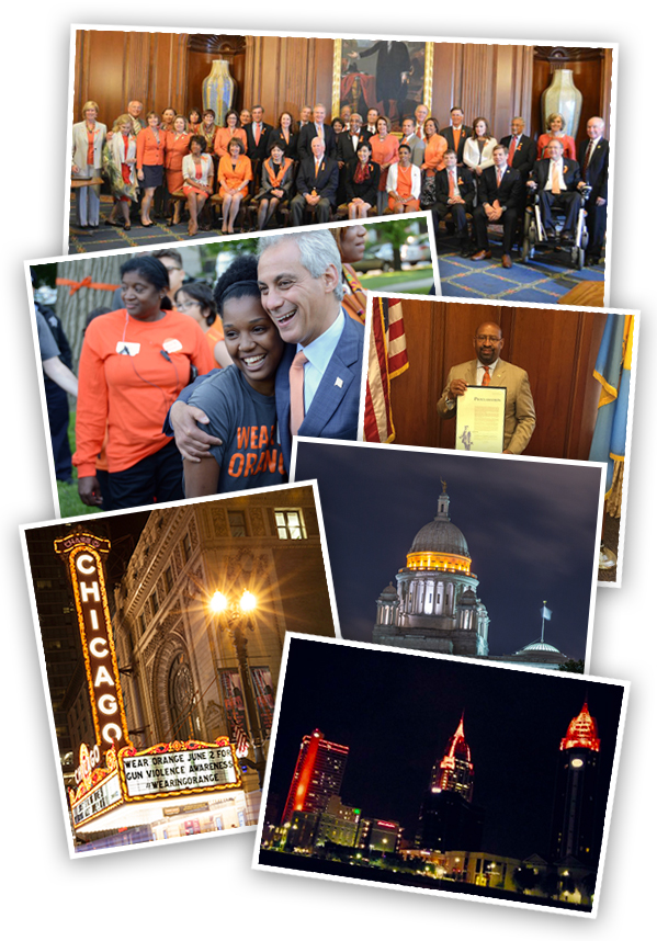 Cities across the country went orange