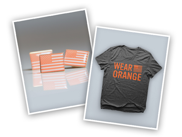 Get your Wear Orange tee or pin