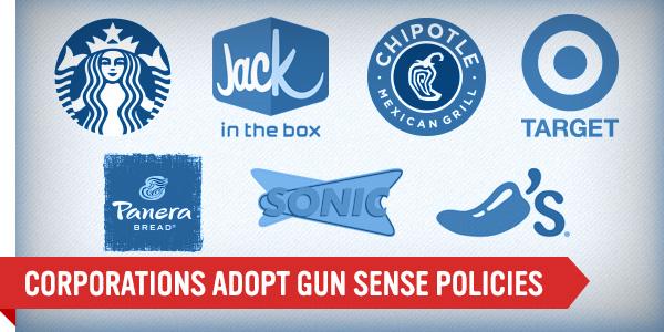 CORPORATIONS ADOPT GUN SENSE POLICIES