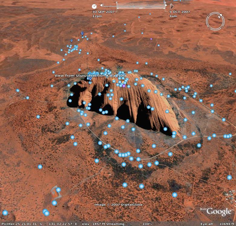 Uluru, Google Earth