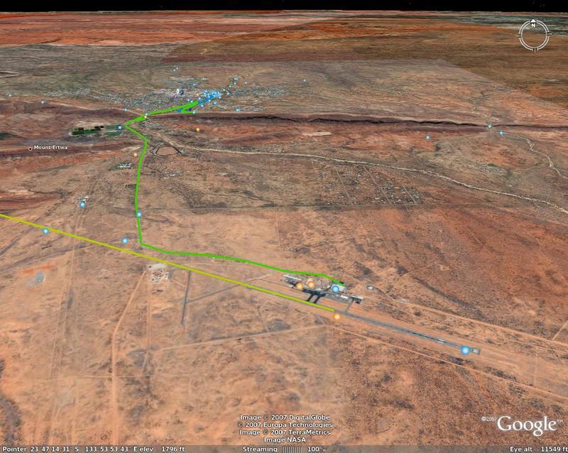 QF arrival in Alice Springs