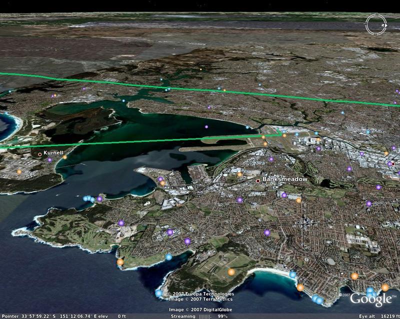 Sydney landing
