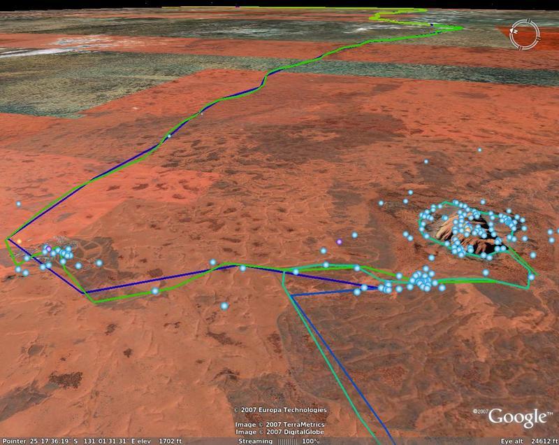 Tracks around Uluru