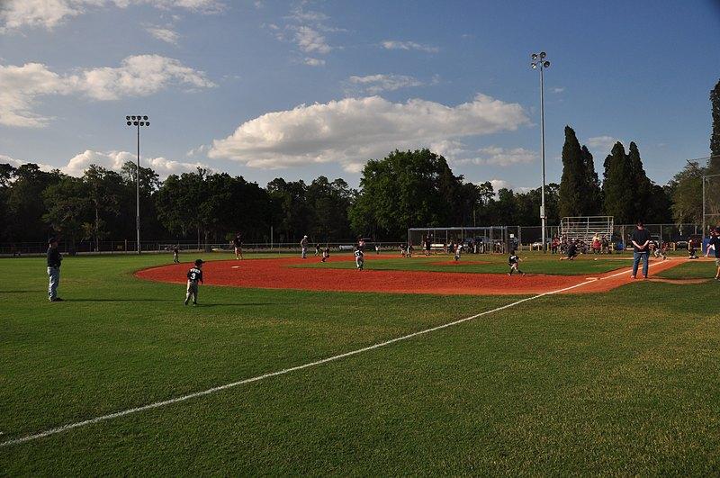 Hunter playing left field