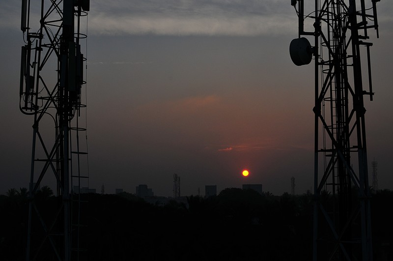 feb 05 6237 mobile tower sunrise