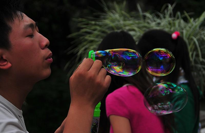 mar 06 9550 blowing bubbles