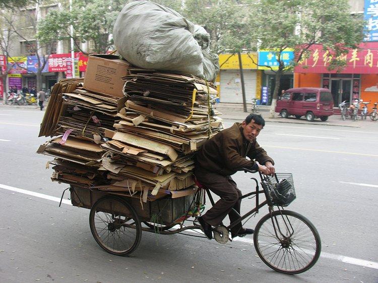 nov 20 0255 bike cardboard