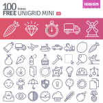 Unigrid: 100 Free Vector Icons from Icojam
