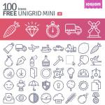 Unigrid: 100 Free Vector Icons from Icojam