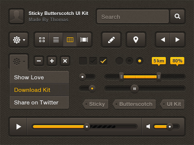 Sticky Butterscotch UI Kit